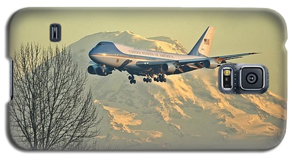 Air Force One And Mt Rainier Galaxy S5 Case
