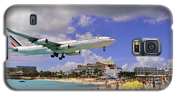 Air France Landing At St Maarten Galaxy S5 Case
