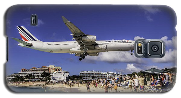 Air France St. Maarten Landing Galaxy S5 Case by David Gleeson