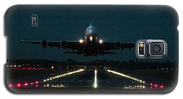Airbus A380 Take-off At Dusk Galaxy S5 Case by Tim Beach