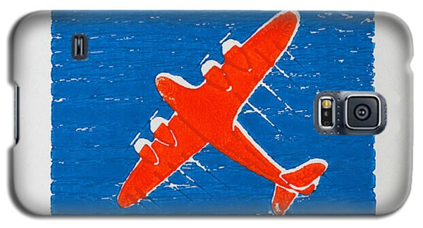 Airplane In The Blue Sky Galaxy S5 Case