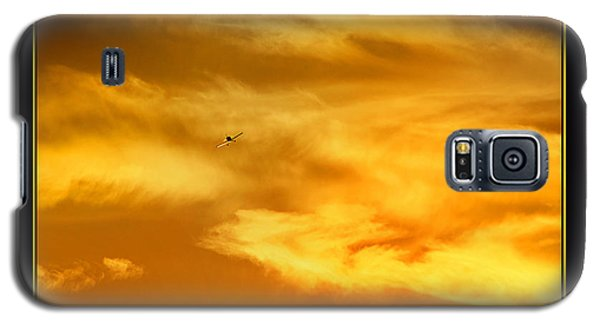 Galaxy S5 Case featuring the photograph Airplane To The Sun by Thomas Bomstad