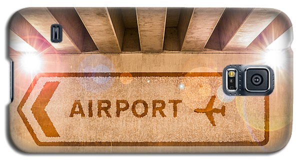 Airport Directions Galaxy S5 Case by Semmick Photo