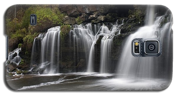 Galaxy S5 Case featuring the photograph Akron Falls by Timothy McIntyre