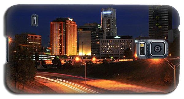 D1u-140 Akron Ohio Night Skyline Photo Galaxy S5 Case