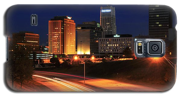 D1u-140 Akron Ohio Night Skyline Photo Galaxy S5 Case