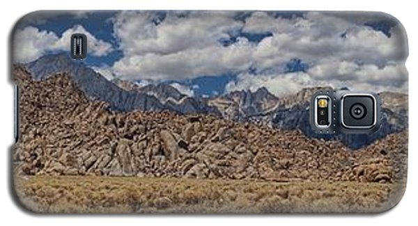 Alabama Hills And Eastern Sierra Nevada Mountains Galaxy S5 Case by Peggy Hughes