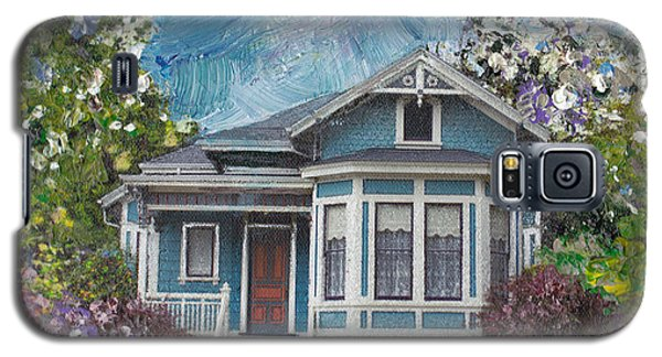 Galaxy S5 Case featuring the painting Alameda 1884 - Eastlake Cottage by Linda Weinstock