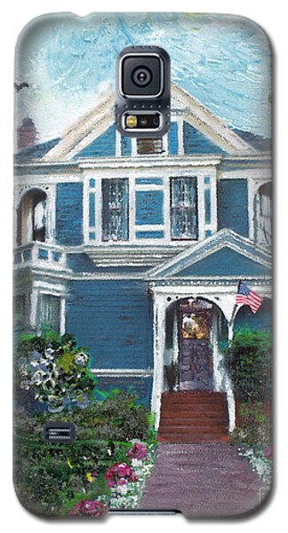 Galaxy S5 Case featuring the painting Alameda 1887 - Queen Anne by Linda Weinstock
