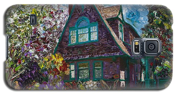 Galaxy S5 Case featuring the painting Alameda 1907 Traditional Pitched Gable - Colonial Revival by Linda Weinstock