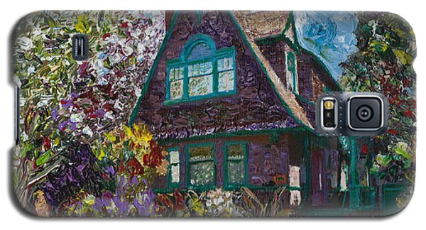 Alameda 1907 Traditional Pitched Gable - Colonial Revival Galaxy S5 Case by Linda Weinstock