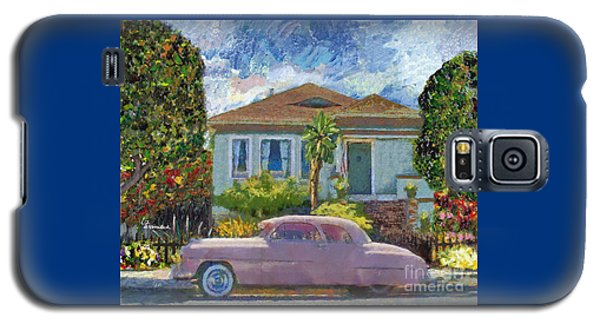 Alameda 1908 House 1950 Pink Dodge Galaxy S5 Case by Linda Weinstock