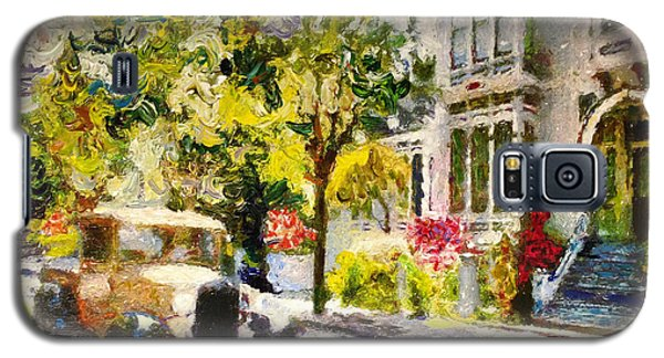 Galaxy S5 Case featuring the painting Alameda  Afternoon Drive by Linda Weinstock