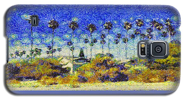 Alameda Famous Burbank Palm Trees Galaxy S5 Case by Linda Weinstock