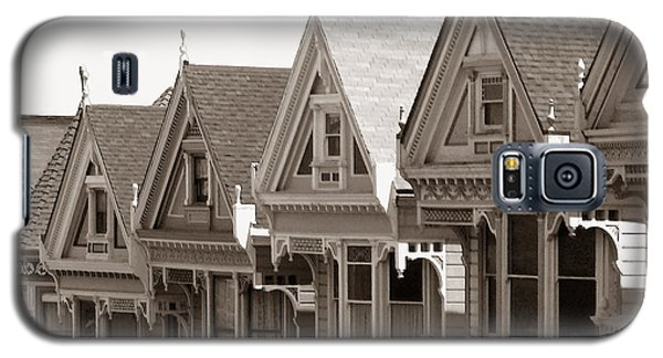 Alamo Square - Victorian Painted Ladies 2009 Galaxy S5 Case by Connie Fox
