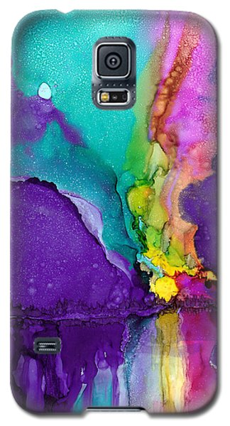 Galaxy S5 Case featuring the painting Alaska Aurora Borealis by Karen Mattson