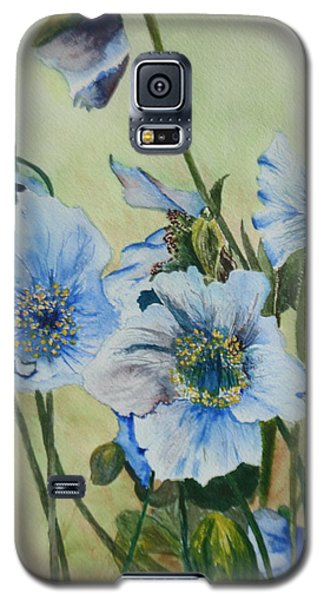 Galaxy S5 Case featuring the painting Alaska Blues by Betty-Anne McDonald