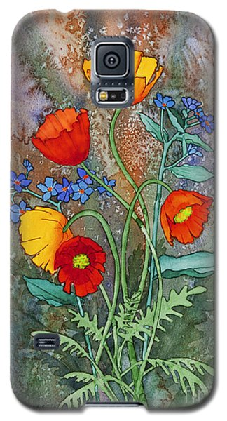 Alaska Poppies And Forgetmenots Galaxy S5 Case by Teresa Ascone