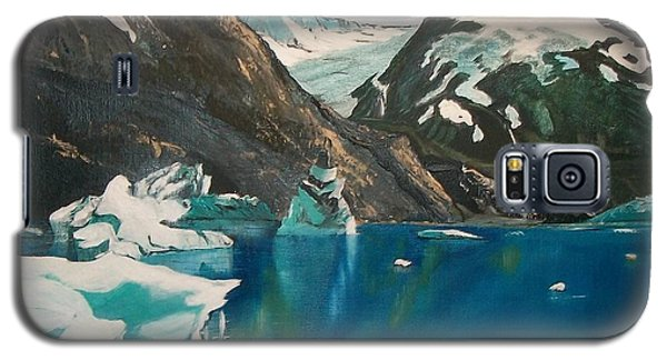Galaxy S5 Case featuring the painting Alaska Reflections by Sharon Duguay