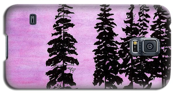 Galaxy S5 Case featuring the drawing Colorful - Alaska - Sunset by D Hackett