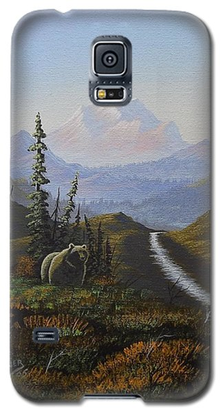 Galaxy S5 Case featuring the painting Alaskan Brown Bear by Richard Faulkner