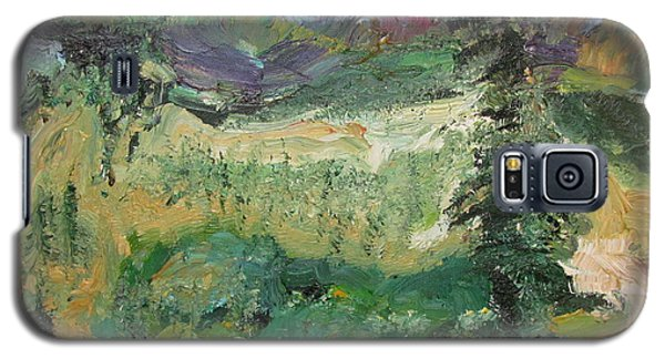 Galaxy S5 Case featuring the painting Alaskan Landscape by Shea Holliman