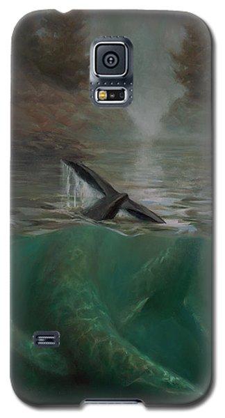 Humpback Whales - Underwater Marine - Coastal Alaska Scenery Galaxy S5 Case