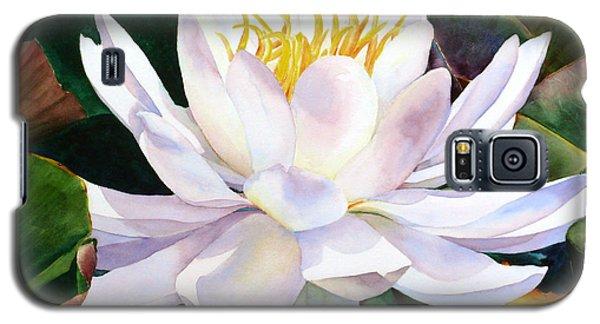 Galaxy S5 Case featuring the painting Alba Flora by Karen Mattson