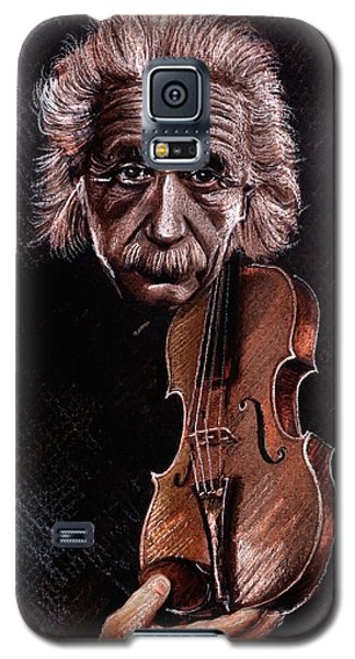 Albert Einstein And Violin Galaxy S5 Case