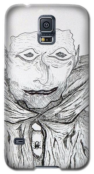 Galaxy S5 Case featuring the drawing Albert by Martin Blakeley