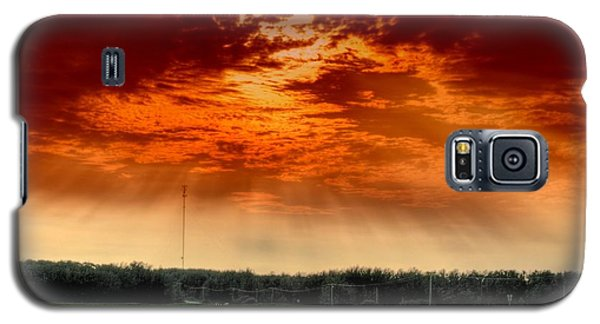Galaxy S5 Case featuring the photograph Alberta Canada Cattle Herd Hdr Sky Clouds Forest by Paul Fearn