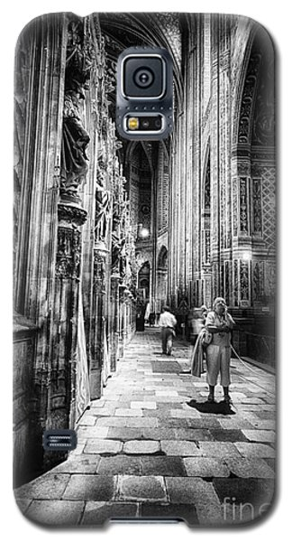 Galaxy S5 Case featuring the photograph Albi Cathedral France Bw by Jack Torcello