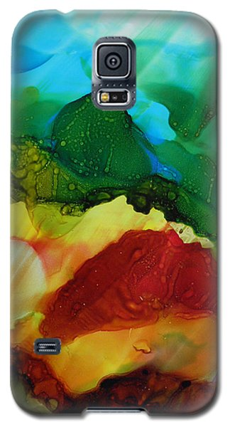 Alcohol Ink Landscape # 157 Galaxy S5 Case