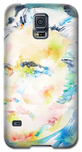 Alexander Hamilton - Watercolor Portrait Galaxy S5 Case by Fabrizio Cassetta
