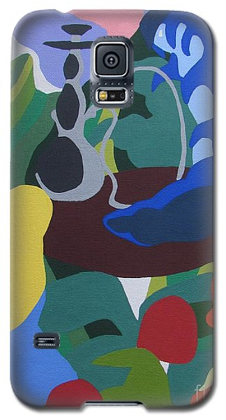 Galaxy S5 Case featuring the painting Alice And The Blue Caterpillar by Meagan  Visser