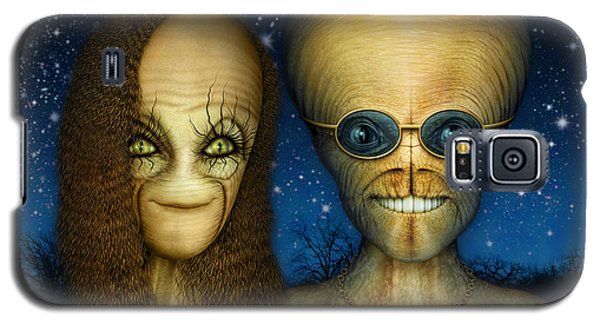Alien Couple Galaxy S5 Case