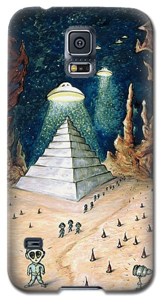 Alien Invasion - Space Art Painting Galaxy S5 Case