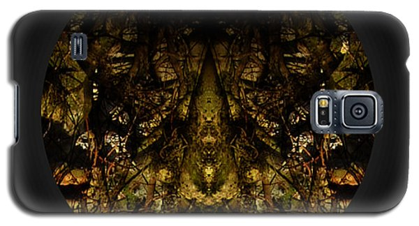 Galaxy S5 Case featuring the digital art Alien Moth God Priest by Christophe Ennis