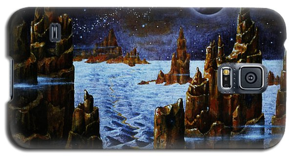 Galaxy S5 Case featuring the painting Ice And Snow  Planet  by Hartmut Jager