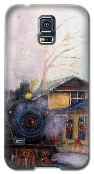 All Aboard At The New Hope Train Station Galaxy S5 Case by Loretta Luglio