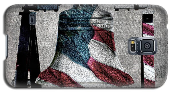 All American Liberty Bell Art_denim Galaxy S5 Case
