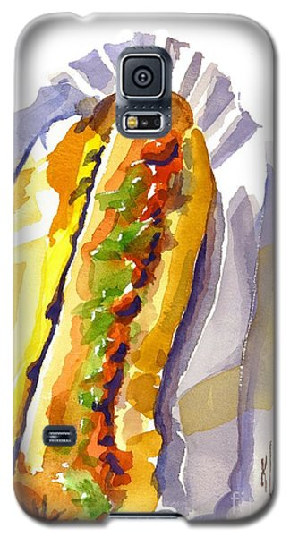 All Beef Ballpark Hot Dog With The Works To Go In Broad Daylight Galaxy S5 Case