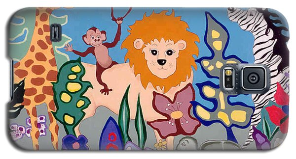 Galaxy S5 Case featuring the painting All Creatures Great And Small by Joyce Gebauer
