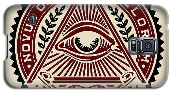 Galaxy S5 Case featuring the digital art All Seeing Eye by Vagabond Folk Art - Virginia Vivier