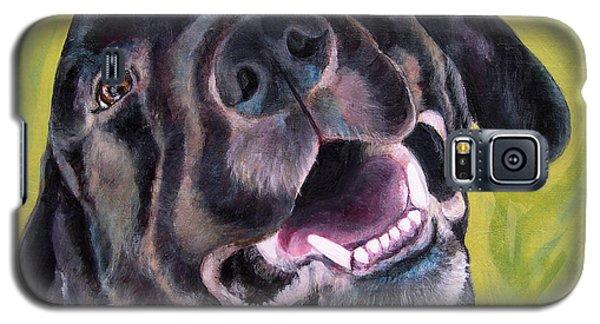 All Smiles Black Dog Galaxy S5 Case