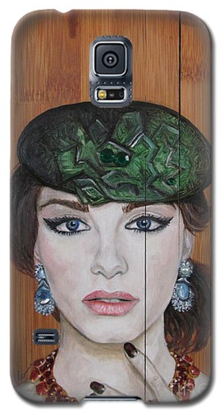 Galaxy S5 Case featuring the painting All That Girls Love 2 by Malinda  Prudhomme