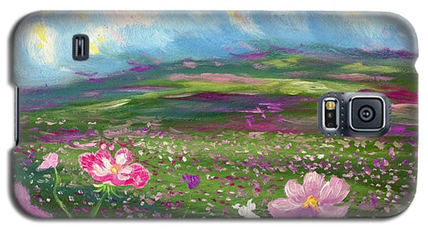 Galaxy S5 Case featuring the painting All Things by Meaghan Troup