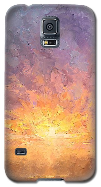 Impressionistic Sunrise Landscape Painting Galaxy S5 Case