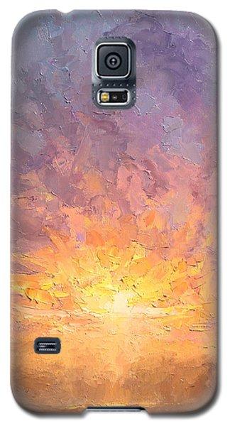 Impressionistic Sunrise Landscape Painting Galaxy S5 Case