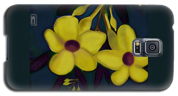 Galaxy S5 Case featuring the digital art Allamandas At Night by Latha Gokuldas Panicker